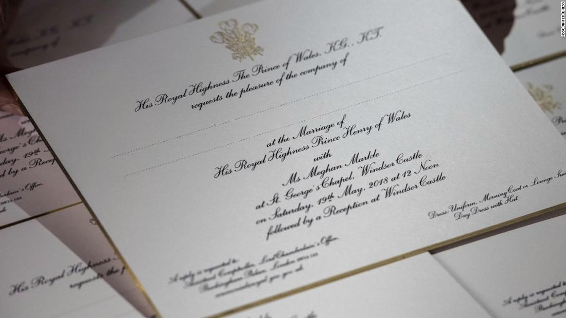 See royal wedding invitations embossed in gold cnn video filmwisefo