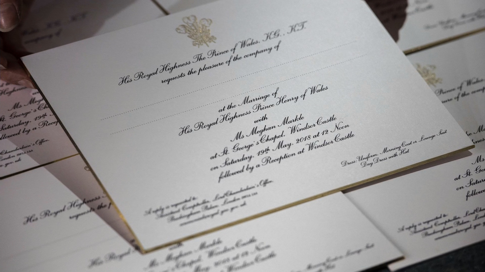 See royal wedding invitations embossed in gold cnn video stopboris Choice Image