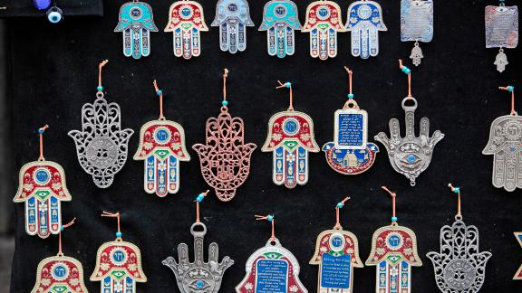 The hamesh hand or hamsa hand is a popular motif in Jewish jewelry.