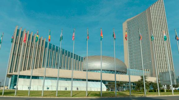 This photo taken on January 28, 2018 shows the African Union (AU) headquarters in Addis Ababa during the opening of the Ordinary Session of the Assembly of Heads of State and Government for the 30th annual African Union summit. / AFP PHOTO / SIMON MAINA        (Photo credit should read SIMON MAINA/AFP/Getty Images)