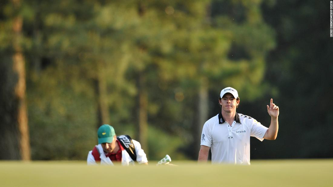 <strong>Major coronation?:  </strong>McIlroy was in inspired form at Augusta for the 2011 Masters and led by four shots going into the final day. A maiden major victory looked to be a formality.