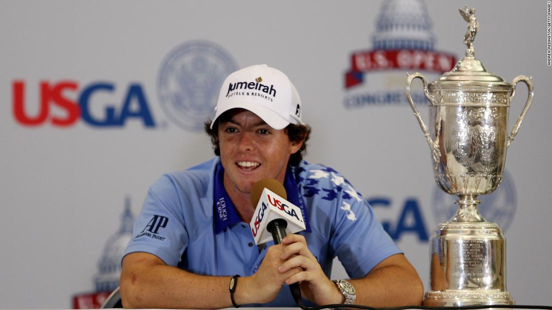 <strong>Major winner:</strong> McIlroy won his maiden major title by eight shots at Congressional Country Club, marking him out as the game's hottest property.