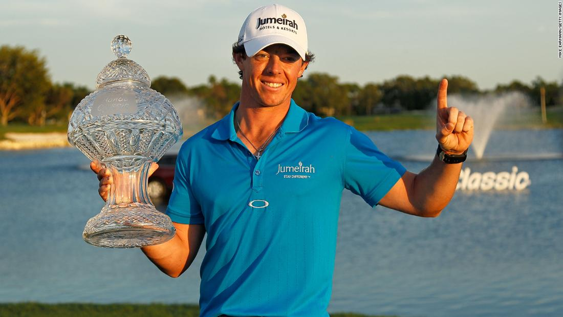 <strong>Top of the world:</strong>  Victory in the Honda Classic in Florida in March 2012 took McIlroy to world No.1 for the first time -- less than five years after turning pro.