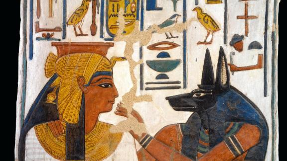 """To tell more the soul of the object than just the object itself,"" Vannini said. This image shows the tomb of Nefertari-Nefertari and the jackal-headed Anubis."