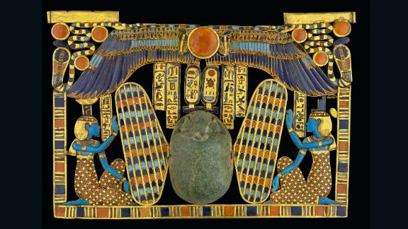 Sandro Vannini has been photographing the Valley of Kings in Egypt for over two decades. He used breakthroughs in technology to capture this ancient civilization in remarkable detail.   This image shows the decoration of a large funerary scarab made from green semiprecious stone.