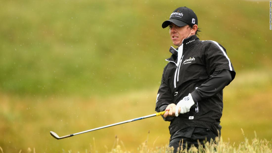 <strong>Fair weather golfer:</strong>  But at the British Open that summer, McIlroy struggled again in bad weather and told reporters he was not a fan of having to battle the elements.