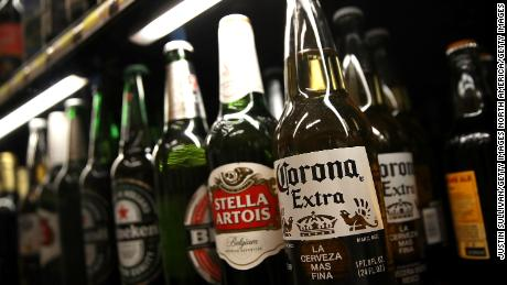 SAN RAFAEL, CA - APRIL 06:  A bottle of Corona beer is displayed on the a shelf at a supermarket on April 6, 2017 in San Rafael, California. Constellation Brands, maker of popular Mexican beers Corona, Modello and Pacifico, saw a 5.5 percent increase in fourth quarter earnings with sales of $1.63 billion.  (Photo by Justin Sullivan/Getty Images)
