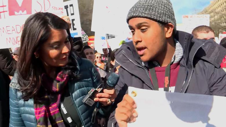 Student: This march is going to change history