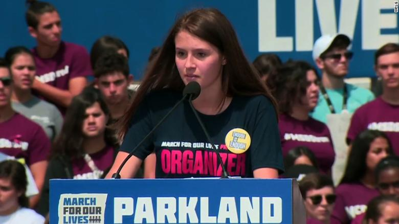 Parkland students chant 'enough is enough'