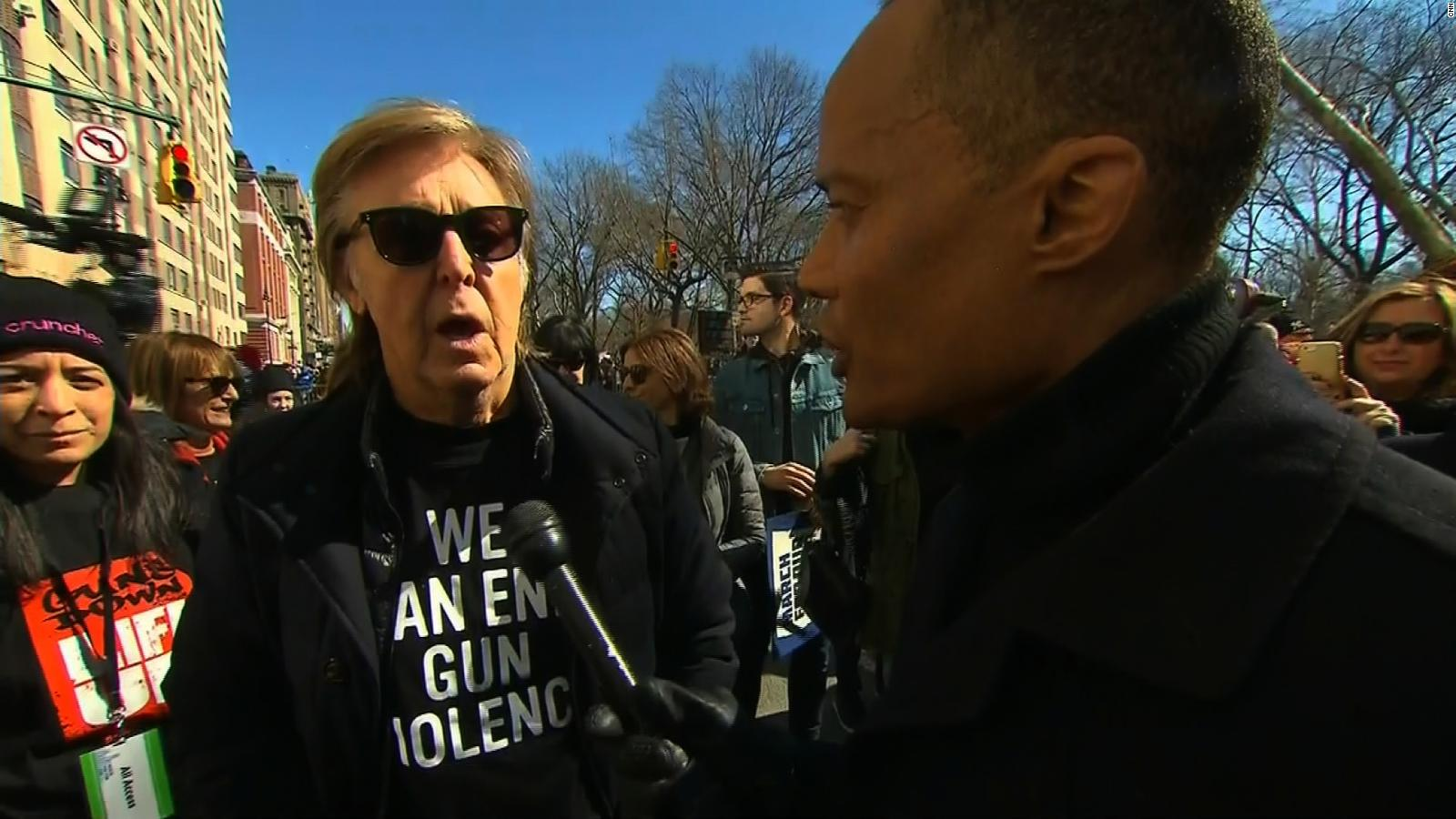 Paul McCartney Was At The March In New York Close To Site Where His Friend John Lennon Shot Death