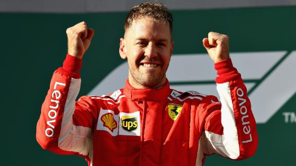 Vettel -- 25 points Hamilton -- 18 points Raikonnen -- 15 points