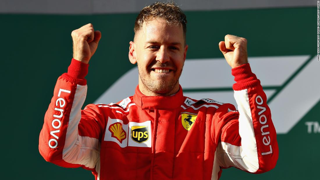 Vettel -- 25 points<br />Hamilton -- 18 points<br />Raikonnen -- 15 points
