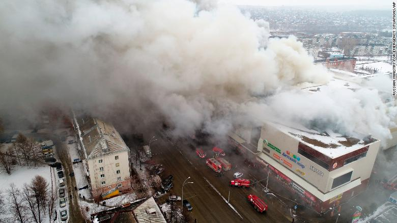 russia shopping mall fire entire class feared dead cnn