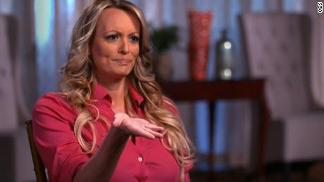 Stormy Daniels describing her interaction with Donald Trump in 2006 when she spanked him with a magazine.