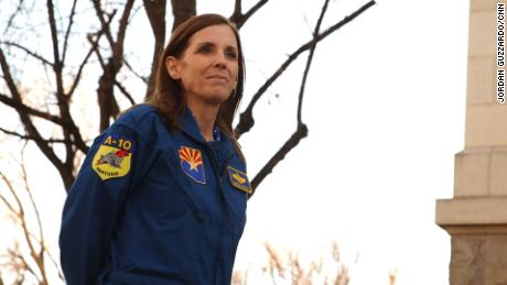 Rep. Martha McSally in Tucson, Arizona, is now running for the US Senate.