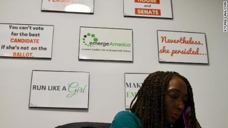 A worker in the Emerge America offices in Washington. Emerge says its growing infrastructure will stay for the long term.