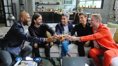 "The cast of ""Queer Eye for the Straight Guy."""