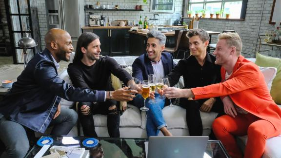 Karamo Brown, Jonathan Van Ness, Tan France, Antoni Porowski and Bobby Berk in a promotional photo for