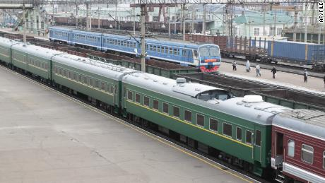 The family train Kim is seen in 2011 in Russia