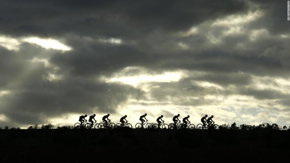 "Mountain bikers compete near Cape Town, South Africa, during the fourth stage of the Cape Epic race on Thursday, March 22. <a href=""http://www.cnn.com/2018/03/19/sport/gallery/what-a-shot-sports-0320/index.html"" target=""_blank"">See 25 amazing sports photos from last week</a>"