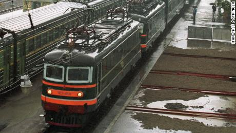 A file picture of a special armored train used to transport North Korean leader Kim Jong Il.