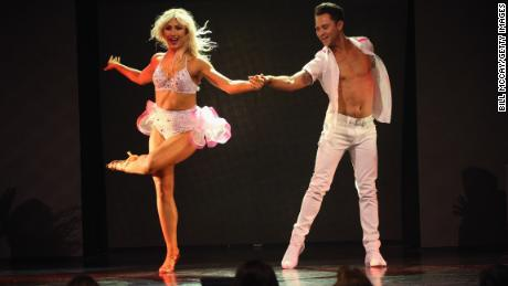 Emma Slater and Sasha Farber perform in June in Atlantic City, New Jersey.
