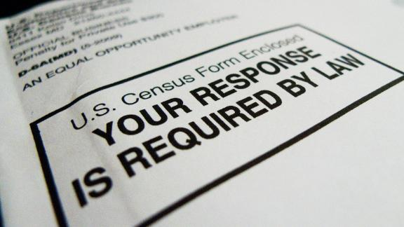 The official US Census form pictured on March 18, 2010 in Washington, DC. AFP PHOTO / Paul J. RICHARDS