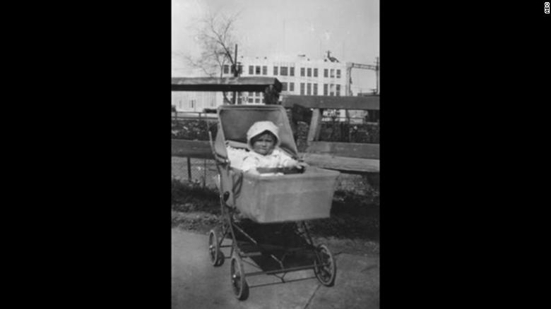 Regis Philbin as a baby in the Bronx, New York. He was raised on Krueger Avenue during the Great Depression on the bottom floor of a two-family house.
