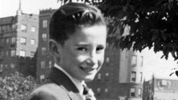 """Regis Philbin as a young boy. He says his parents -- a first-generation Irish-American father and an Italian-American mother -- didn't have any idea about his showbiz dreams. """"I used to stay in this house, 6 years old, tune in WNEW, which was the key radio station in New York City,"""" he told Katie Couric. """"And every night at 9:30, Bing Crosby would have a half hour of songs."""""""