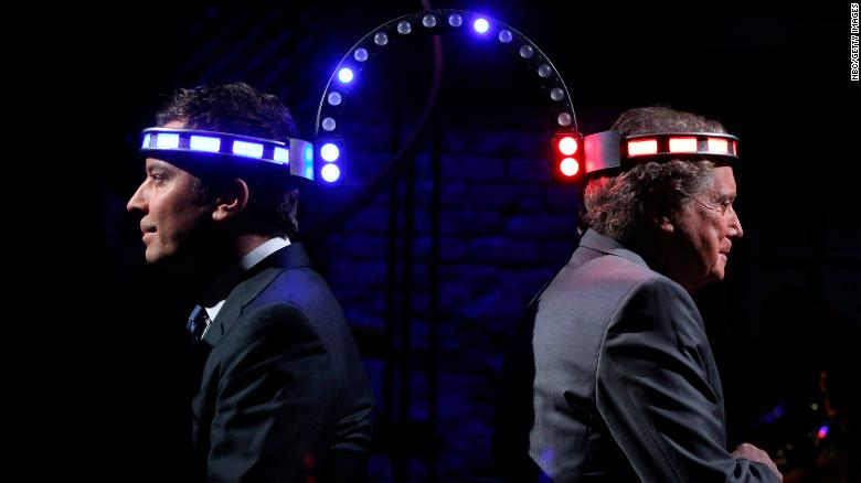 "Jimmy Fallon plays a game called Brainstorming with Regis Philbin on ""The Tonight Show with Jimmy Fallon."""