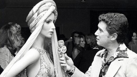 Regis Philbin conducts an interview.