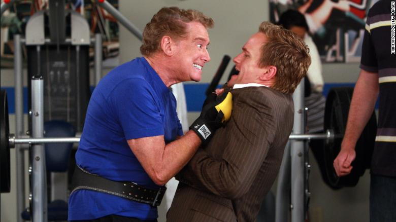 "Regis Philbin during a guest appearance on ""How I Met Your Mother"" with Neil Patrick Harris."