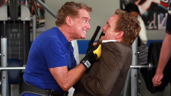 """Regis Philbin during a guest appearance on """"How I Met Your Mother"""" with Neil Patrick Harris."""