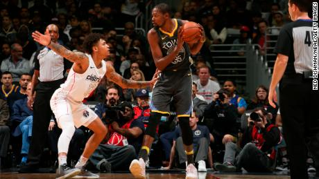 Warriors forward Kevin Durant missed time late in the regular season with a rib injury.