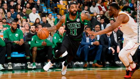 Celtics point guard Kyrie Irving (left knee) is out for the playoffs.