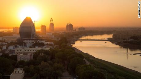 A sunset view of river Nile in Khartoum, Sudan
