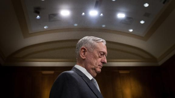 U.S. Secretary of Defense James Mattis arrives for a Senate Foreign Relations Committee hearing concerning the authorizations for use of military force, October 30, 2017 in Washington, DC. (Drew Angerer/Getty Images)