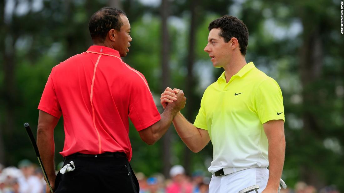 <strong>Masters miss:</strong> It wasn't to be a third major in a row and the final leg of the grand slam as McIlroy ended fourth at Augusta in April 2015, playing alongside Tiger Woods on the final day.