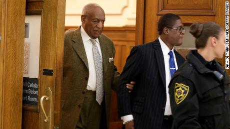 Bill Cosby leaves the courtroom earlier this month after a pretrial hearing in Norristown, Pennsylvania.