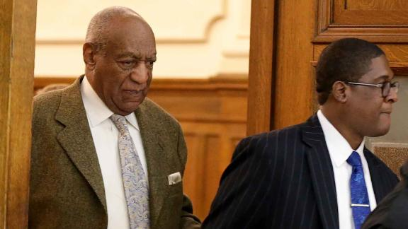 Actor and comedian Bill Cosby (L) leaves the courtroom at the end of the day from a pretrial hearing at the Montgomery County Courthouse in Norristown, PA on Monday, March 5, 2018.