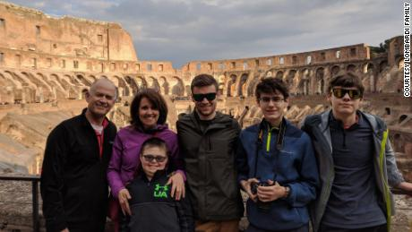 The Lombardi family is on a two-week trip to celebrate their son's healing.