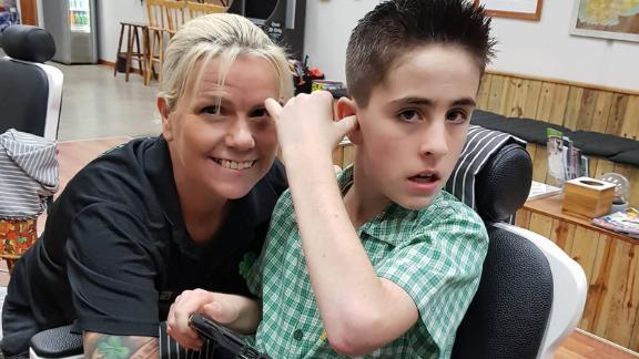 McKenzie and Jordie look forward to happier haircuts.
