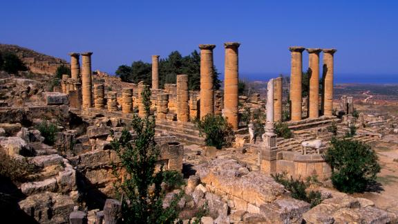 Some of the artworks have been traced to the Cyrene archaeological site in northern Libya.