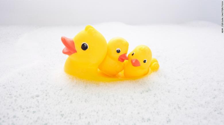 the inside of rubber duckies are full of bacteria you don t seem