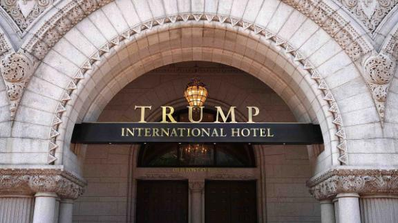 WASHINGTON, DC - AUGUST 10:  The Trump International Hotel is shown on August 10, 2017 in Washington, DC.  The hotel, located blocks from the White House, has become both a tourist attraction in the nation