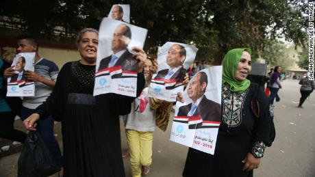 Egypt's re-elected President says he wishes there were more rivals