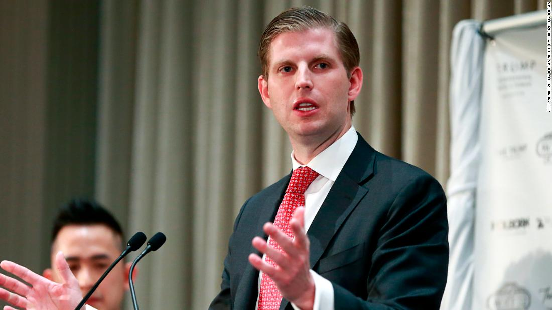 Eric Trump says 95% of Americans support his dad's message. Uh...
