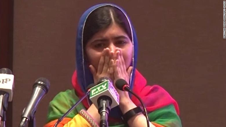 Malala in Pakistan: 'I have always dreamed that I would come home'