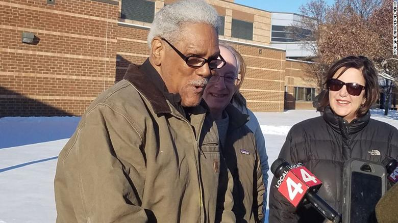 Phillips, talking with reporters, the day he was released last December.