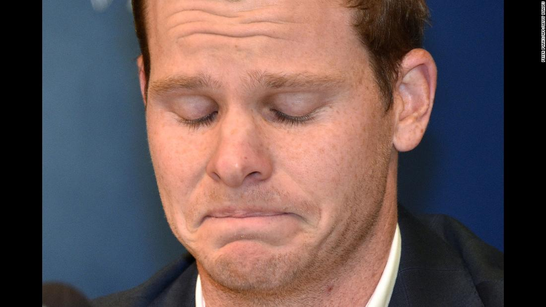 "Steve Smith, Australia's former cricket captain, broke down during a news conference in Sydney on Thursday, March 29. He apologized for his role in <a href=""https://www.cnn.com/2018/03/29/sport/australia-cricketers-return-home-intl/index.html"" target=""_blank"">a ball-tampering scandal </a>that cost him the captaincy. Smith, Cameron Bancroft and David Warner admitted that they conspired to scuff the ball to try to gain an unfair advantage over South Africa."